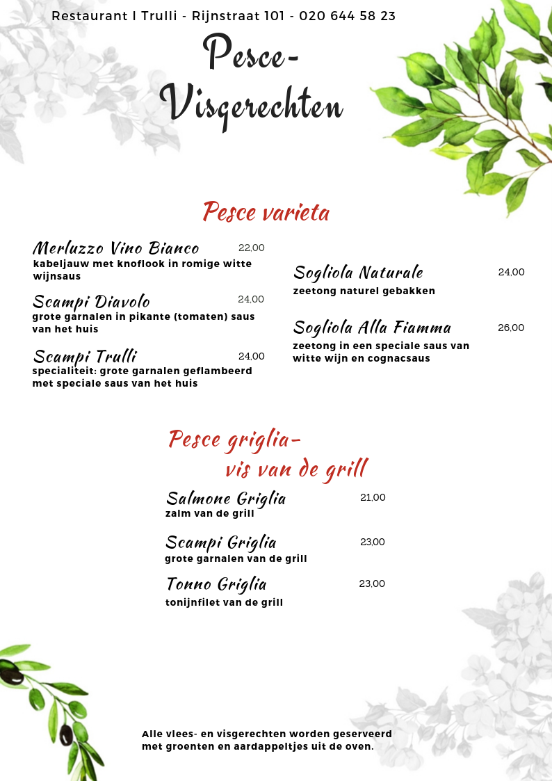 Website Menu I Trulli - visgerechten