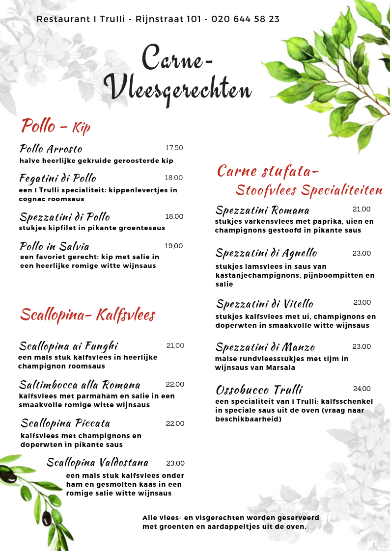 Website Menu I Trulli - vleesgerechten 1